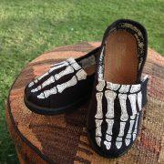 Custom, hand painted Skeleton Feet youth TOMS.
